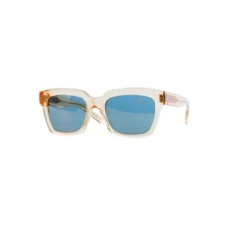 Saint Laurent Women's Gold Bold 1 Rectangular Plastic Sunglasses