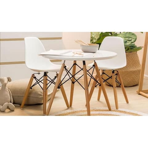 Kids Eiffel Set of 2 Eiffel Chairs and table