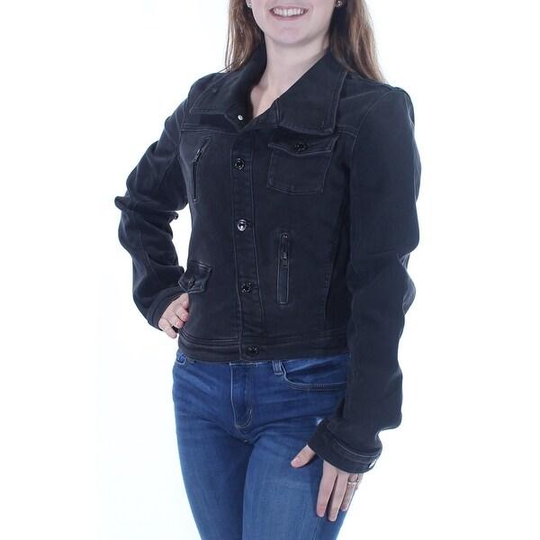 Shop Guess Womens Black Button Down Jacket Size Xl Free Shipping