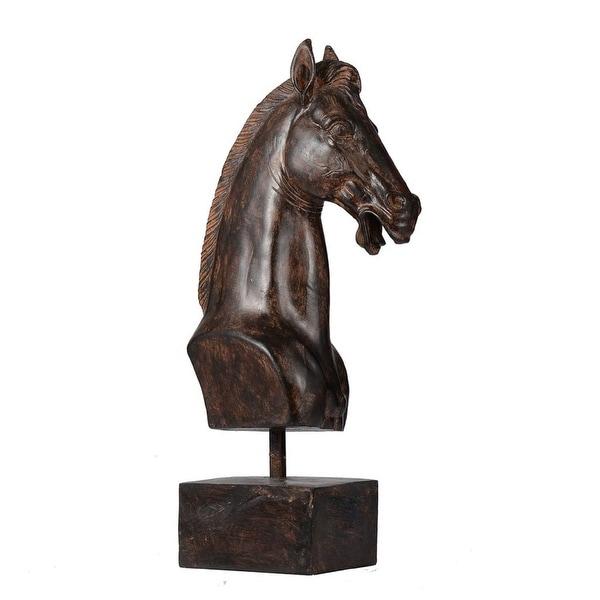 "16.5"" Bronze Horse Head Classic Vintage Decorative Accent - N/A"