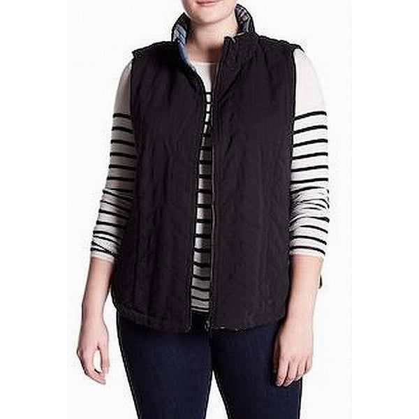 6df16e84b1c Shop Supplies Black Women s Size 2X Plus Vest Quilted Full-Zipped Jacket - Free  Shipping On Orders Over  45 - Overstock.com - 22054989