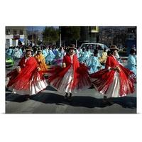 Poster Print entitled Dancing Cholitas, La Paz, Bolivia