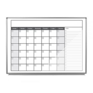 "Offex 48"" x 36"" Magnetic Dry-Erase Monthly Calendar"