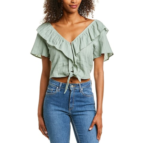 Very J Tie-Front Blouse
