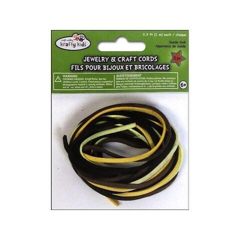 Multicraft Jewelry & Craft Cord Caramel 5pc