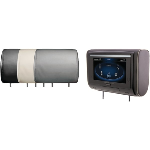 """Power Acoustik Hdvd-94 9"""" Lcd Universal Headrest With Ir & Fm Transmitters & 3 Interchangeable Skins (Dvd Player)"""