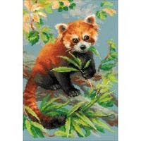 """10.25""""X15"""" 14 Count - Red Panda Counted Cross Stitch Kit"""