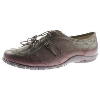 Walking Cradles Womens Dara Oxfords Leather Lace-Up - 10 extra wide (e+, ww)