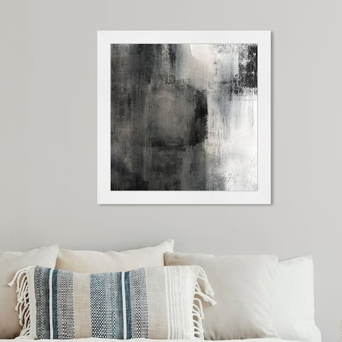 Oliver Gal 'Stand Still' Abstract Wall Art Framed Print Paint - Black, Gray