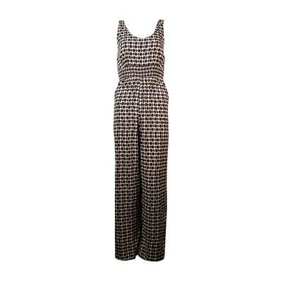 Bar III Women's Dot-Print V-Neck Jumpsuit - magnet combo