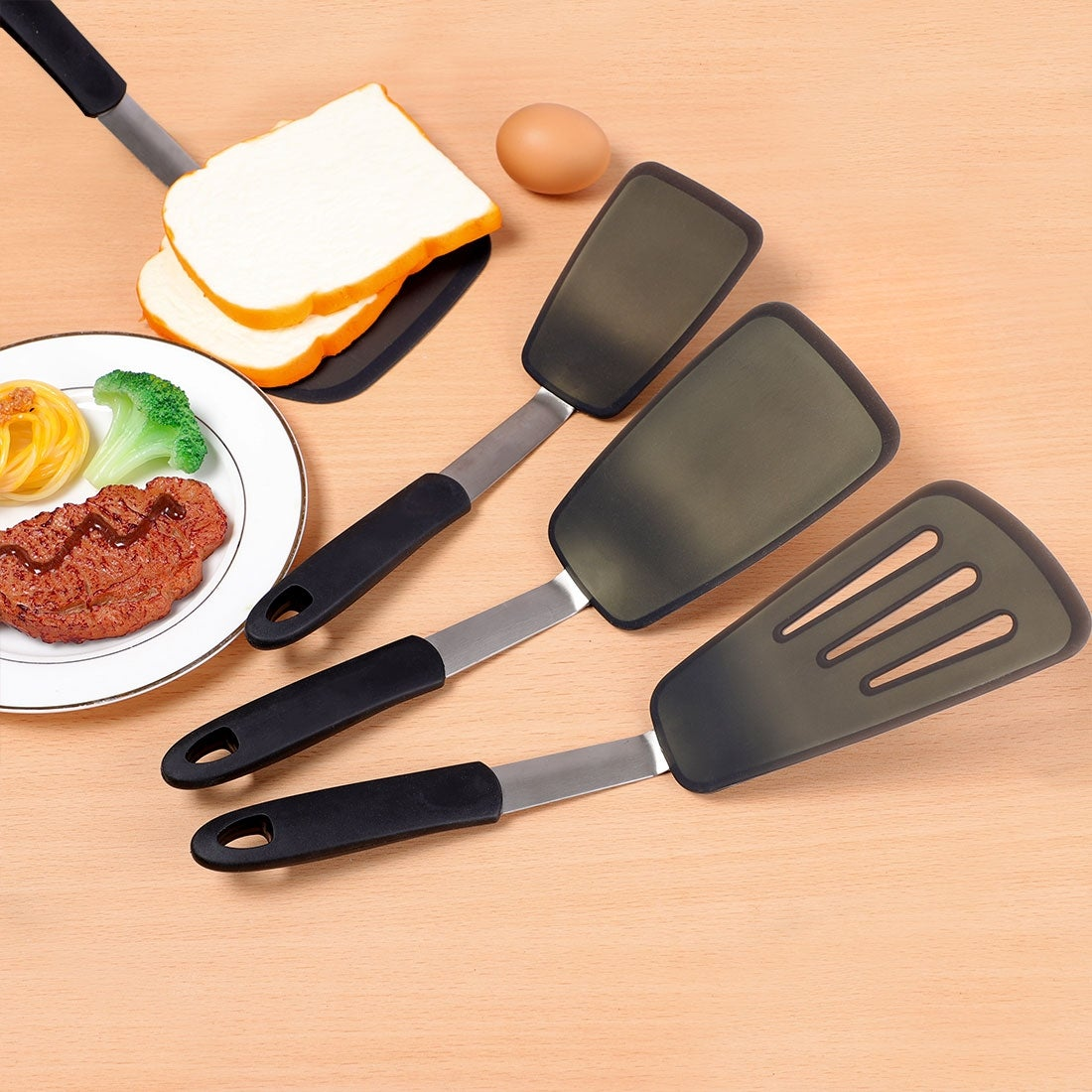Black Silicone Spatula great for Baking