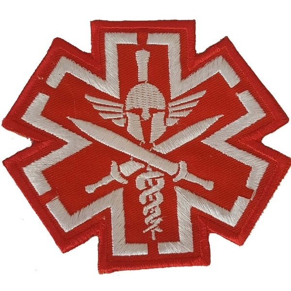 MEDIC PIRATE SKULL RED TACTICAL Embroidered Iron On Patch P89