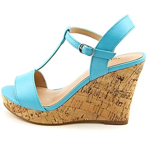 Charles By Charles David Women's Libra Leather T-Strap Wedge Sandal
