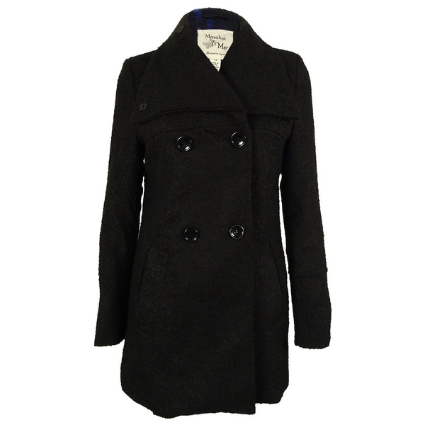 bec3ec78765b6 Shop Maralyn   Me Women s Double-Breasted Peacoat - Free Shipping On ...