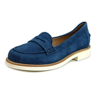 Tod's Ivy Light Mocassino Women Suede Blue Moccasins