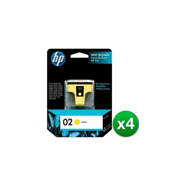 HP 02 Yellow Original Ink Cartridge (C8773WN) (4-Pack)
