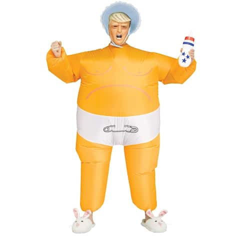 Adult Baby Prez Inflatable Trump Costume - Standard - One Size