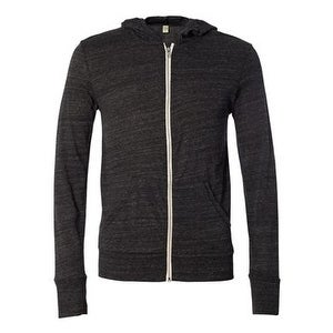 Eco-Jersey Hooded Full-Zip - Eco Black - 3XL