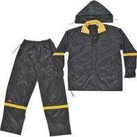 Custom Leathercraft L G R103L Rain Suit - Black, Pack of 3