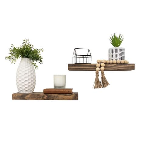"Del Hutson Designs True Floating Shelves, Set of 2, 16"""