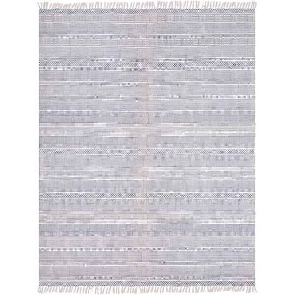 Hand Woven Charleigh Cotton Area Rug On Sale Overstock 10958213 8 X 10 Light Grey