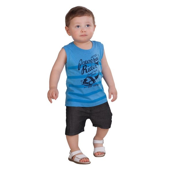 Pulla Bulla Baby Boy Sleeveless Shirt Striped Tank Top
