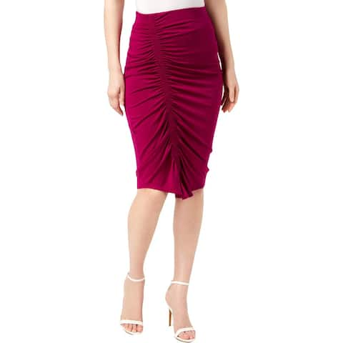 Vince Camuto Womens Pencil Skirt Ruched Knee Length