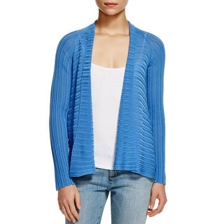 Eileen Fisher Womens Petites Cardigan Sweater Tencel Ribbed Knit