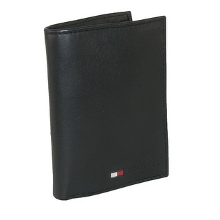 Tommy Hilfiger Men's Leather Credit Card Organizer Wallet - Black - One size