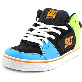DC Shoes Patrol Women Round Toe Leather Black Skate Shoe