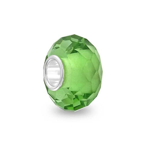 Murano Solid Glass .925 Sterling Silver Bead Charm Spacer More Colors - 8