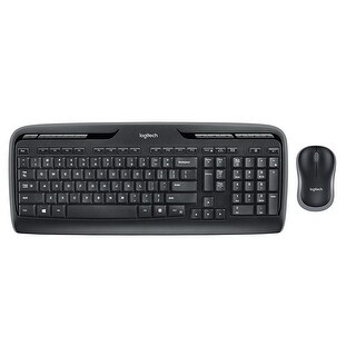 Logitech MK320 Desktop Wireless Multimedia Keyboard & Optical Mouse Kit (Refurbished)