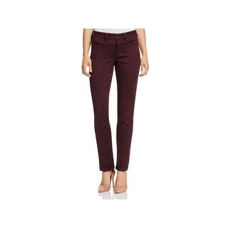 NYDJ Womens Sheri Straight Leg Jeans Slim Sculpting