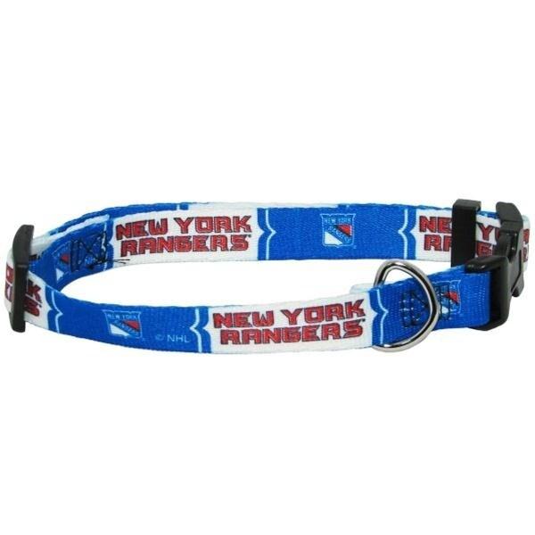 Shop New York Rangers Pet Collar - Medium - Free Shipping On Orders ... 0fa599001