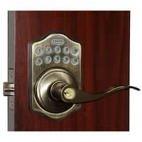 Lockey E-985 R Electronic Keypad Lever Handleset, Remote Control Capable, 6 User Codes and LED Illumination from the E-DIGITAL