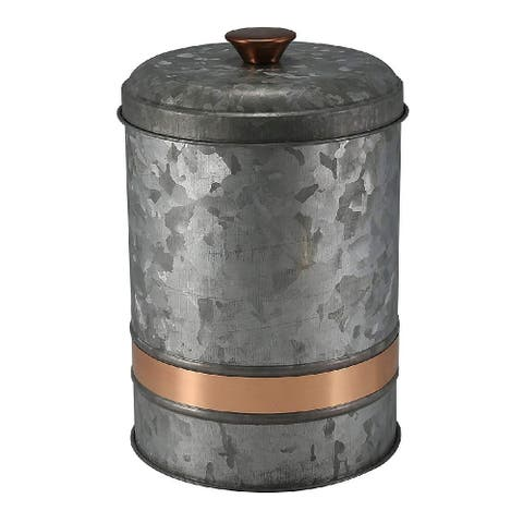 Thirstystone Industrial Luxe Iron Canister Medium Silver - 7.5 x 5 x 5