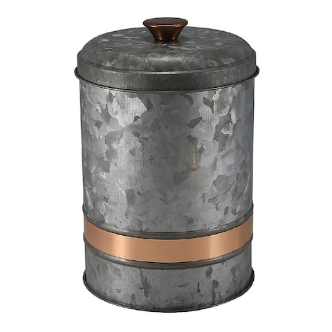 Thirstystone Industrial Luxe Iron Canister Small Silver - 7.5 x 5 x 5