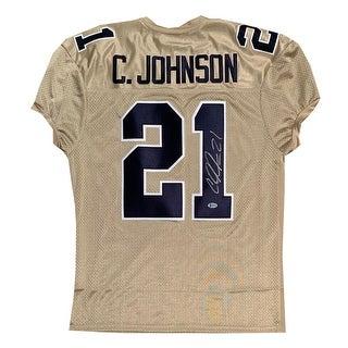 Calvin Johnson Autographed Georgia Tech Signed Football Jersey Beckett BAS COA