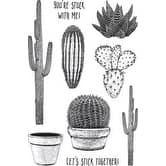 """Cacti - Darkroom Door Cling Stamps 7""""X5"""""""