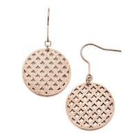 Chisel Stainless Steel Pink Dangle Earrings