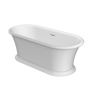 "Jacuzzi LEF6530BCXXXX Leonora 65"" Solid Surface Free Standing Soaking Bathtub with Center Drain - N/A"