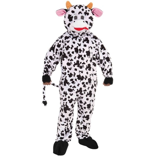 Forum Novelties Promotional Cow Mascot Adult Costume - Black/White - Standard