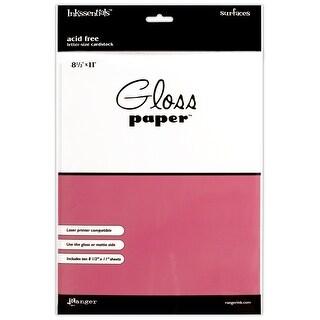 """Inkssentials Gloss Paper 8.5""""X11"""" 10/Pkg-White - White"""