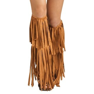 Hippie Fringe Boot Covers Costume Accessory