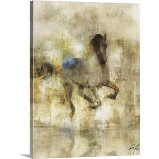 """Horse Dash I"" Canvas Wall Art"