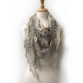 Women's Fancy Lace Fringes Triangle Scarf