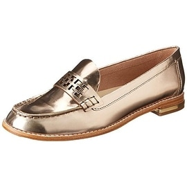 Trina Turk Womens Reserve 2 Patent Leather Laser Cut Loafers - 8.5 medium (b,m)