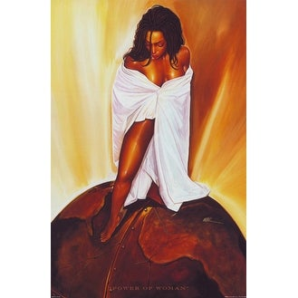 ''Power of Woman'' by WAK - Kevin A. Williams African American Art Print (36 x 24 in.)
