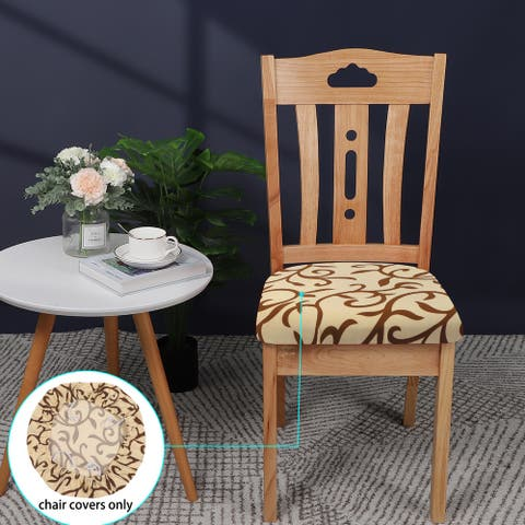 4Pcs Home Dinning Chair Seat Cover Elastic Stretchable Slipcovers