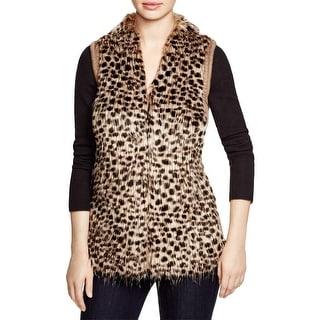 Sioni Womens Vest Faux Fur Knit-Back